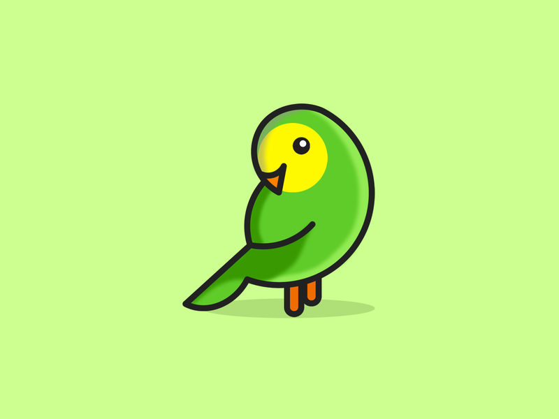 single Bird branding illustrator illustration icon flat design dribbble