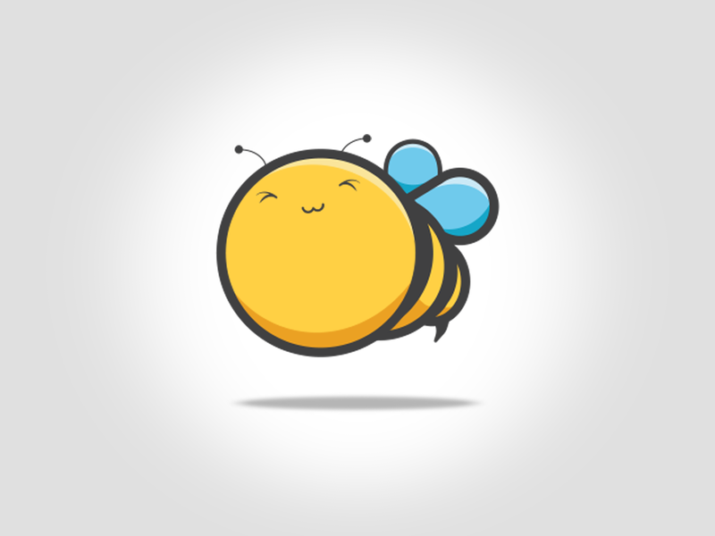 cute bee indentity animal art vector icon design design dribbble clever smart illustration funny fun cute logo symbol icon honey bee character carton animal illustration animal character