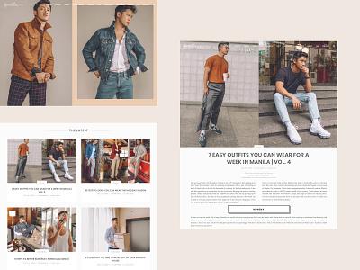 Menswear Blog philippines manila web designer web design blog influencer style fashion menswear blog design webdesign design