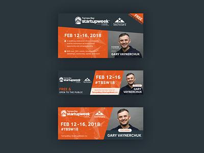 TBSW18 Ads event conference digital ads gary vee ad design florida tampa bay tampa startup facebook ad display ads ads orange graphic design design