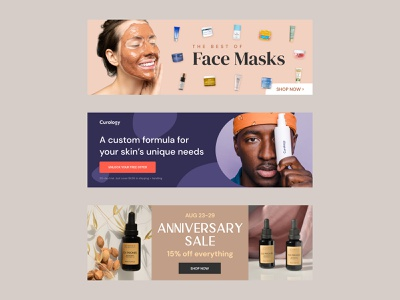Skincare Banner Ads figma clean banners facebook ad ad design display ads advertisement skin ads banner ads skincare