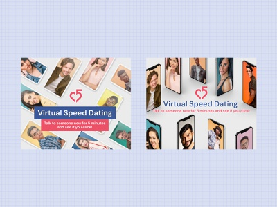 Virtual Speed Dating Ads virtual speed social media ads online figma facebook ad display ads dating banner ads advertisement ads design ads