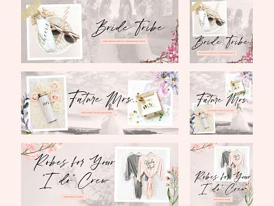 Wedding Accessories Banners wedding social media ads instagram ads girly figma feminine facebook ads dreamy display ads bride banners ads banner ads design ads ad banners accessories