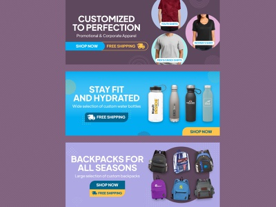 eCommerce Web Banners shop ecommerce shop banner web products ecommerce ads design figma advertisement ads graphic design design banner ads web banners