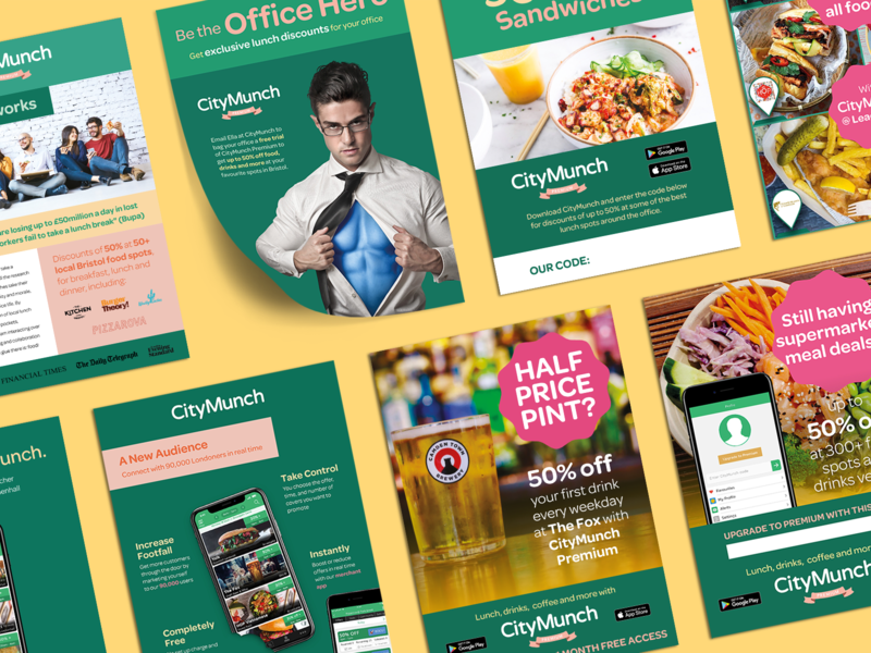 CityMunch Marketing Materials