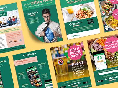Marketing Materials marketing materials print poster manchester bristol london graphic design brochure flyer food colorful green food app