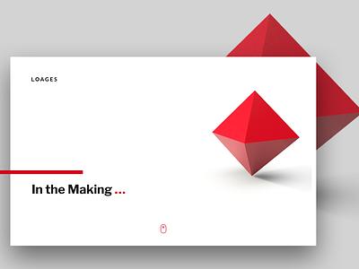 Coming Soon clean minimal octagon red and black web website ui ux comingsoon branding design