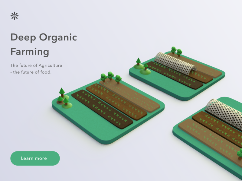Organic farming minimal farming 3d ui clean