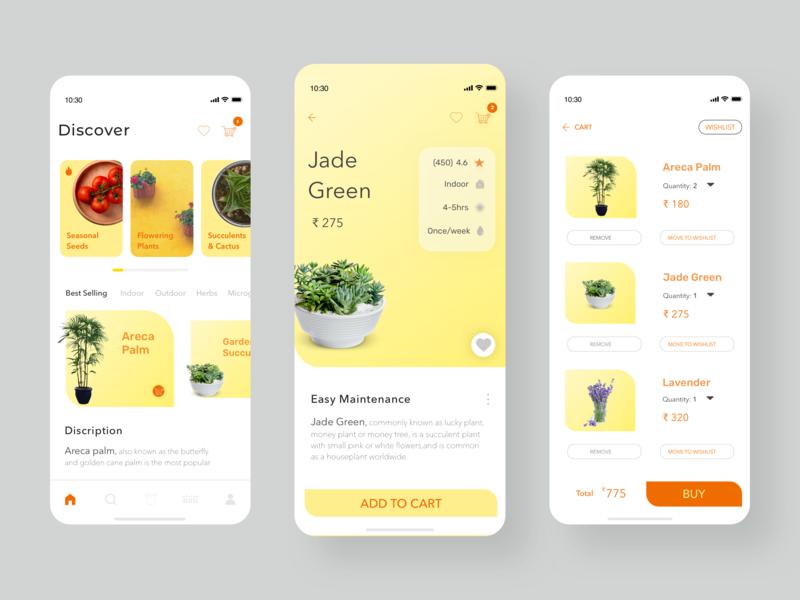 Shop Plants shop plant design ui app