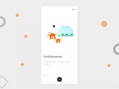 Intro Screens motion uxdesign animation app ui illustration minimal