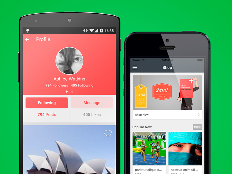 Theme1 - Ionic Starter App by Agustín Haller on Dribbble