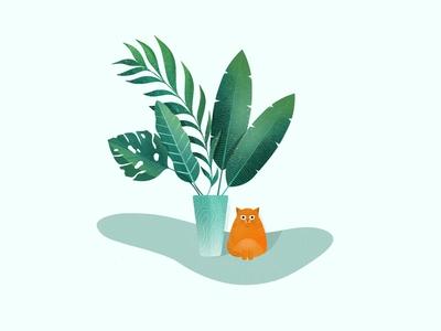 Catlife digital illustration
