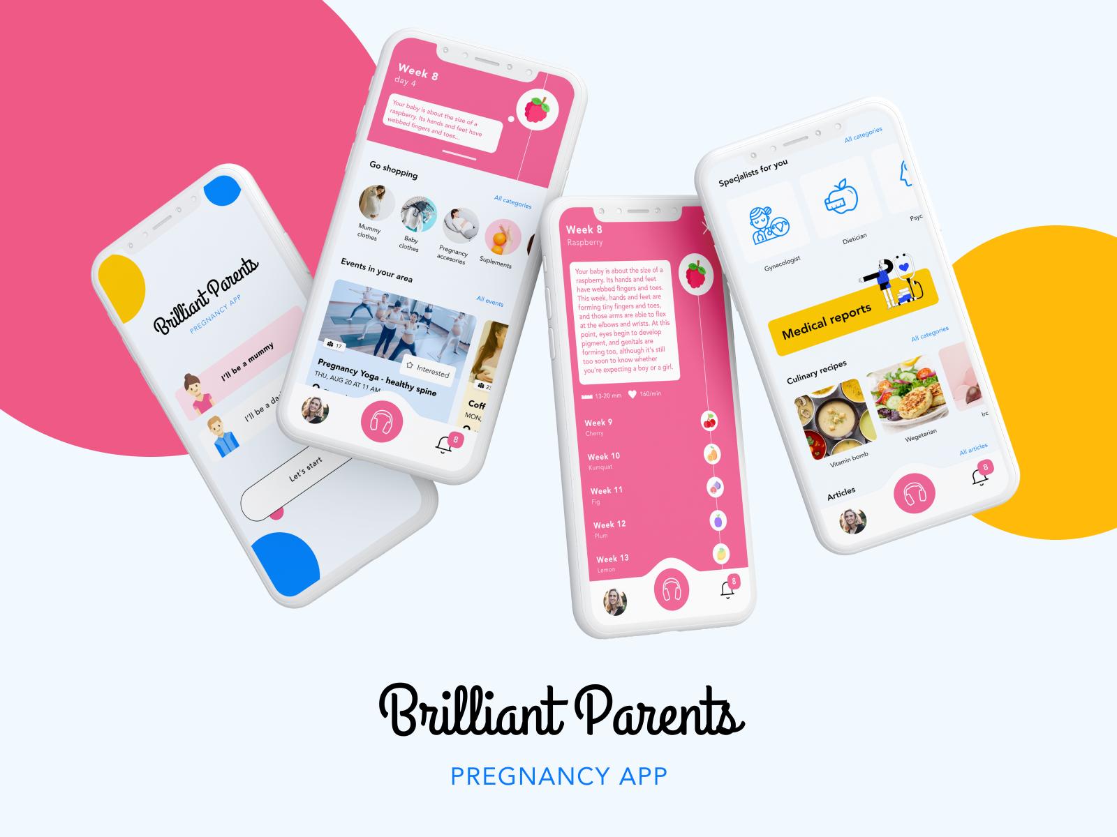 Brilliant Parents Pregnancy App By Alicja Urbanczyk For Divante On Dribbble