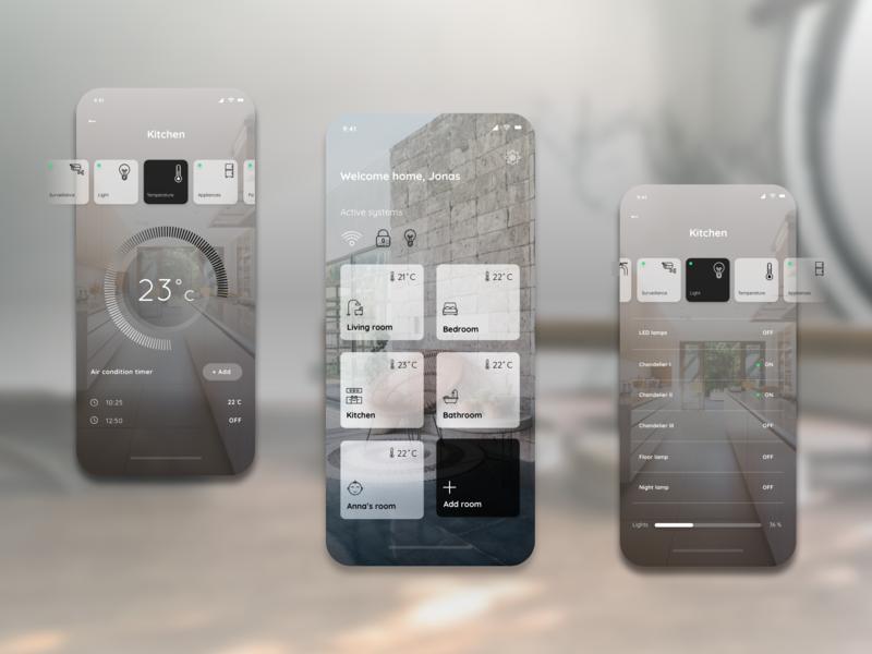 Smart home mobile app concept