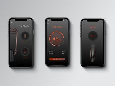 Nomad dark UI