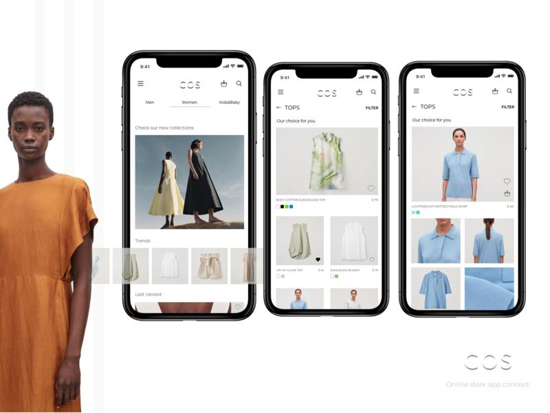 COS online store concept