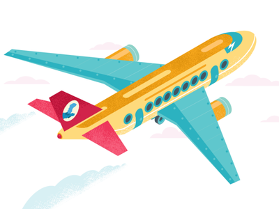 Airplane polecat aviation iso isometric isometria apple airplane vector