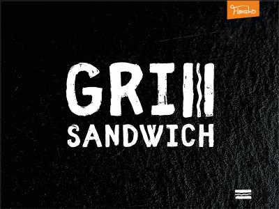 Grill Sandwich logo beer pub sandwich grill