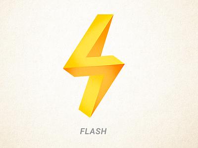 Flash M flash design logo print emblem