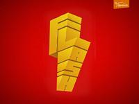 FlasH flash lettering typography 3d art logo print