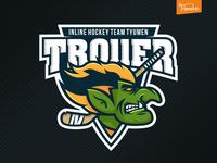 Troller troll hockey sport emblem
