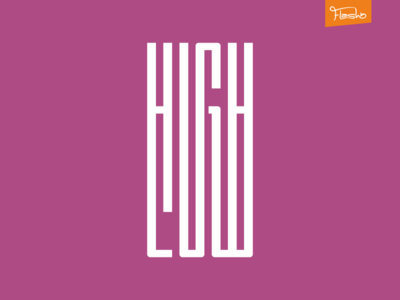 High Low low high design logo gradient