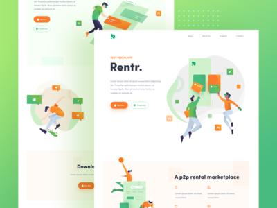 Rentr - Landing Page Illustration