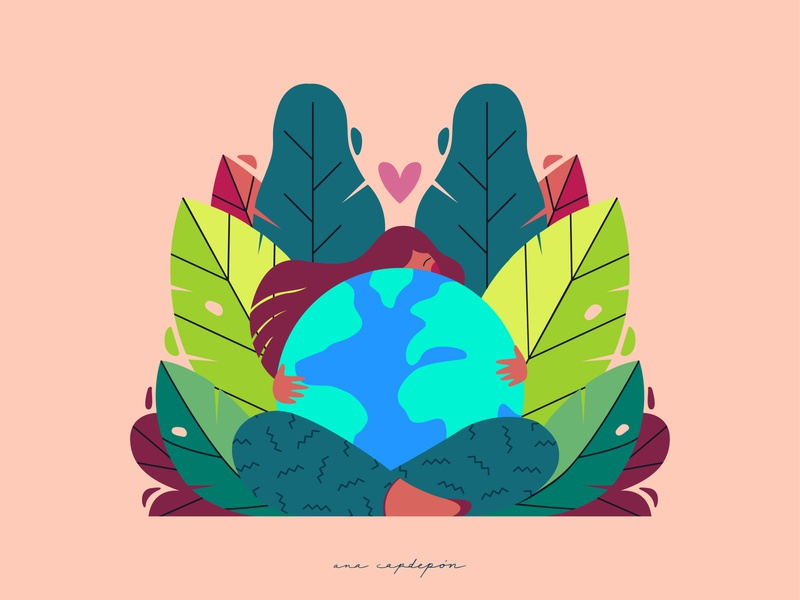 Protect our planet graphic illustrator minimal vector flat graphic design design illustration