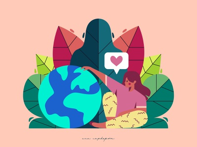 Take care of our planet flat graphic vector illustrator graphic design design illustration