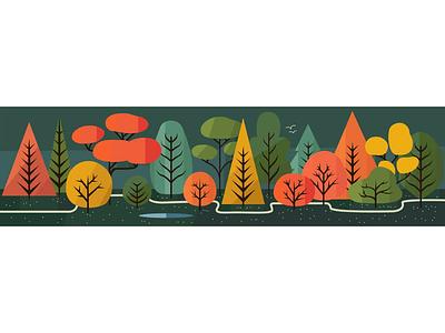 Landscape flat design graphic design illustration vector art