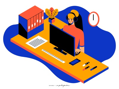 Freelancer freelance designer work from home workplace freelancer freelance flat design minimal illustrator vector flat design graphic design illustration