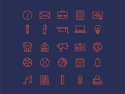 Education icon set icon branding flat design illustrator vector flat design graphic design illustration
