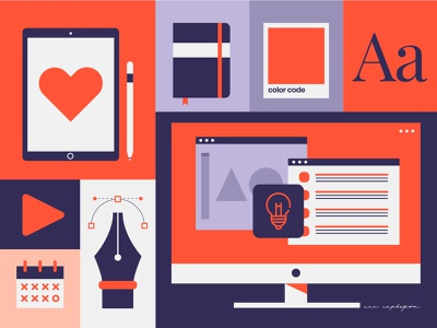 Graphic designer infographic freelance graphic designer color pattern flat design minimal illustrator vector flat design graphic design illustration