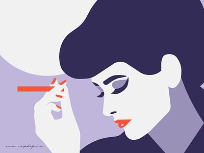 Rachael design minimal fan art vector blade runner illustration