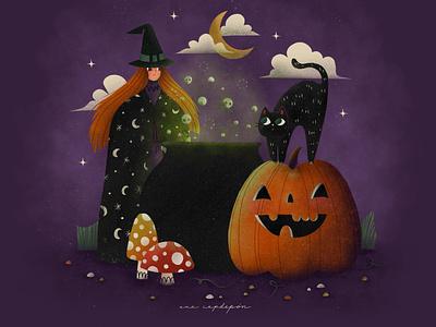 Happy Halloween spooky hocus pocus halloween dribbble prompt illustrator illustration