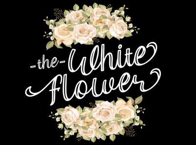 the White Flower   font preview logotype handwriting script type lettering elegant design typography handwritten font branding