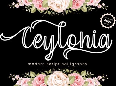 Ceylonia   Modern Script Calligraphy luxury natural handwriting script elegant design typography handwritten font branding