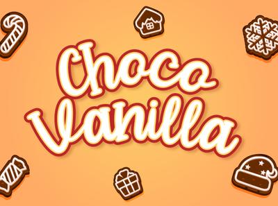 Choco Vanilla design handwriting cricut quirky natural type script lettering handwritten font
