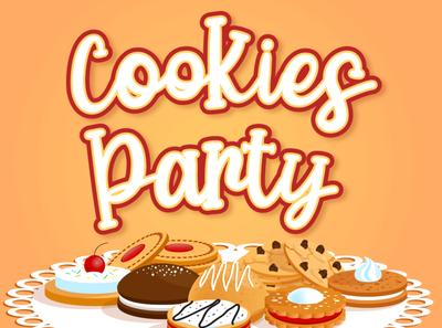 Cookies Party   Display script font design natural handwriting type branding typography script lettering handwritten font