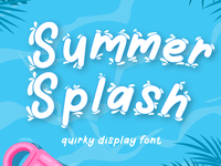 summer splash font summer display font handwriting design branding typography lettering handwritten font