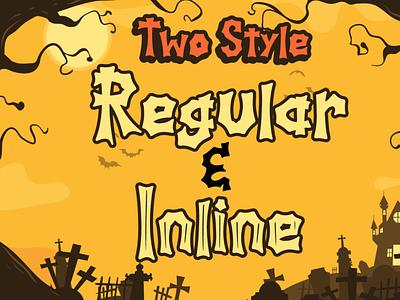 Spooky Hill - Halloween Font typeface cursive handwritten fall web spider bone pumpkin thanksgiving silhoutte horror spooky halloween