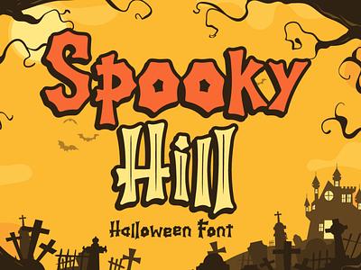 Spooky Hill - Halloween Font branding lettering typography font typeface cursive handwritten fall web spider bone pumpkin thanksgiving silhoutte horror spooky halloween
