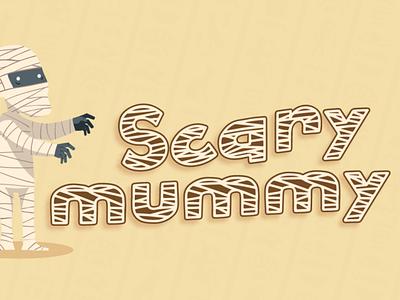 Hollow Mummy - Halloween Font typography font quirky kid font cute font typeface cursive handwritten blood mummy spider bone pumpkin thanksgiving silhoutte horror spooky halloween