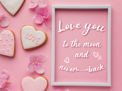 Pinky Sunday - Preview Font 3 logo font diplay calligraphy script handwritten children quotes silohuette crafty bundle design headline whimsical cupid valentine day love heart easter valentine