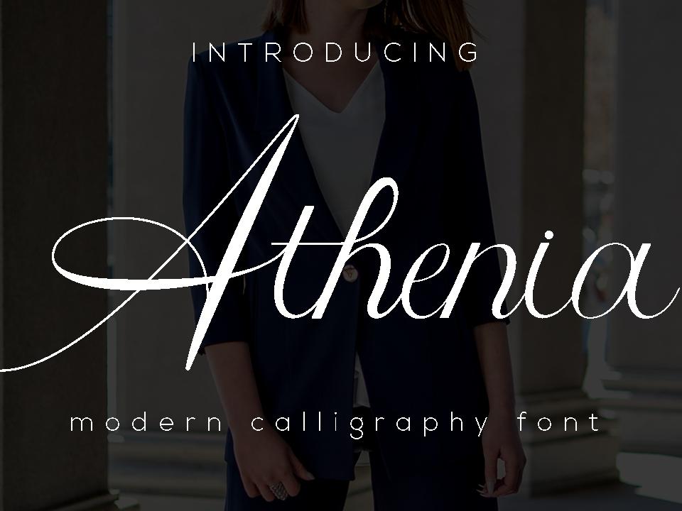 Athenia Font typograph design type handwriting style fashion lettering script natural luxury logo branding typography handwritten font elegant