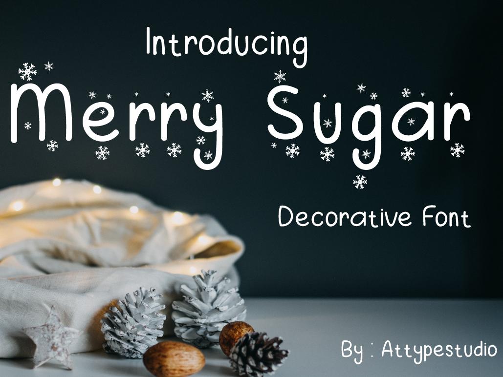 Merry Sugar Font decorative typograph type natural lettering handwriting design branding typography handwritten font