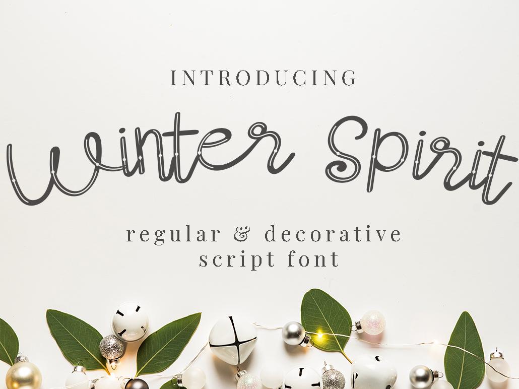 Winter Spirit Font decorstive logo script typograph type natural lettering handwriting elegant design branding typography handwritten font