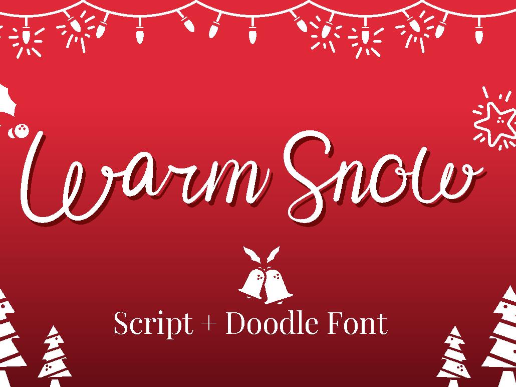 Warm Snow winter holiday logo script type natural lettering handwriting elegant design branding typography handwritten font