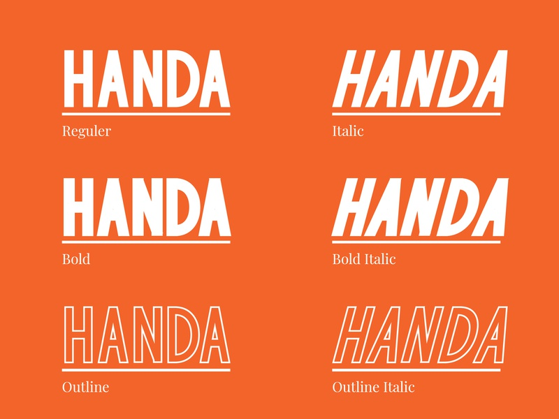Handa Font Preview 2 logo vector sans sans serif natural handwriting type lettering elegant design branding typography handwritten font