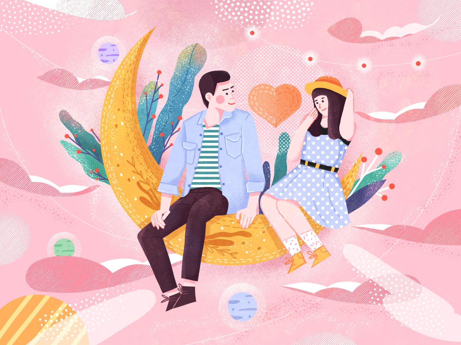 Valentine's Day illustration illustrations